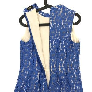 4c6162c678cd Oasis Dresses   Blue Lace Sleeveless Aline Dress Size 8   Poshmark